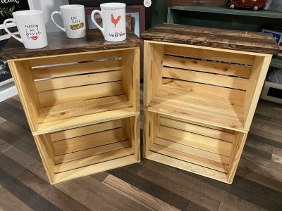 Wood Crate - End Table (Set of 2)